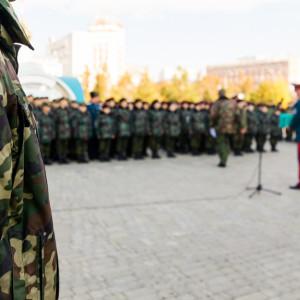 20171018 020 Торжественное Обещание Кадета Казачьего Войска Собор Успения Омск IMG_4785