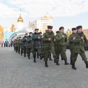 20171018 031 Торжественное Обещание Кадета Казачьего Войска Собор Успения Омск IMG_4816