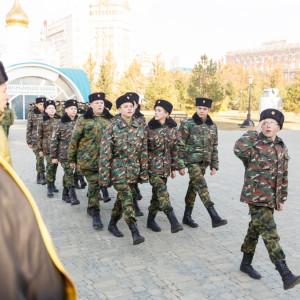 20171018 033 Торжественное Обещание Кадета Казачьего Войска Собор Успения Омск IMG_4837