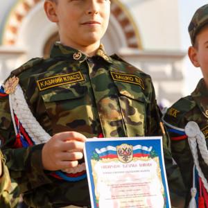 20171018 038 Торжественное Обещание Кадета Казачьего Войска Собор Успения Омск IMG_4866