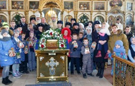 В дни святок в Казанском соборе состоялась Литургия архиерейским чином
