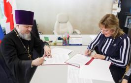 Подписано соглашение о сотрудничестве между приходом св. Иоанна Крестителя и лицеем № 66 г. Омска