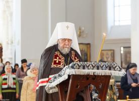 В понедельник первой седмицы Великого поста митрополит Владимир совершил богослужения в главном соборе города