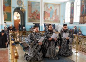 Первую в этом году Литургию Преждеосвященных Даров митрополит Владимир совершил в Казанском соборе