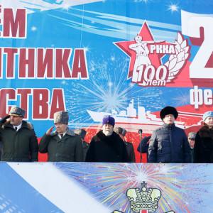 180223 201 Военный Парад Соборная площадь Омск митр. Владимир (Иким) IMG_3928