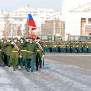 180223 211 Военный Парад Соборная площадь Омск митр. Владимир (Иким) IMG_3989