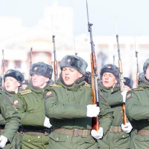 180223 212 Военный Парад Соборная площадь Омск митр. Владимир (Иким) IMG_3995