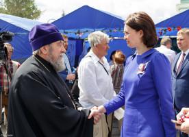 Митрополит Владимир принял участие в торжествах в честь праздника Дня России