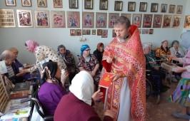 Престольный праздник на приходе в Нежинском геронтологическом центре