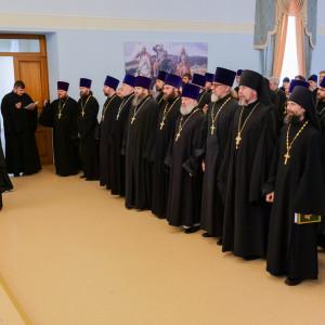 180904 001 Собрание Духовенства Семинария Омск митр. Владимир (Иким) P1199130