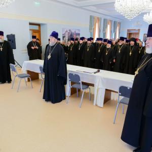 180904 002 Собрание Духовенства Семинария Омск митр. Владимир (Иким) P1199133