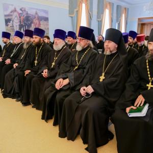180904 007 Собрание Духовенства Семинария Омск митр. Владимир (Иким) P1199177