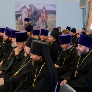 180904 011 Собрание Духовенства Семинария Омск митр. Владимир (Иким) P1199232