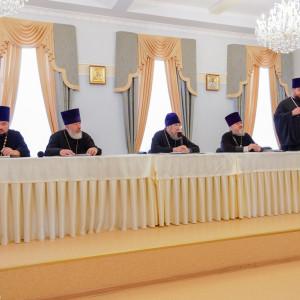 180904 014 Собрание Духовенства Семинария Омск митр. Владимир (Иким) P1199282