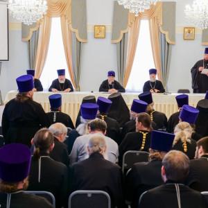 180904 016 Собрание Духовенства Семинария Омск митр. Владимир (Иким) P1199293