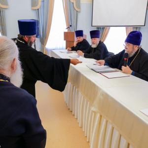 180904 017 Собрание Духовенства Семинария Омск митр. Владимир (Иким) P1199307
