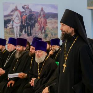 180904 022 Собрание Духовенства Семинария Омск митр. Владимир (Иким) P1199356