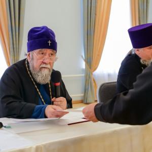 180904 023 Собрание Духовенства Семинария Омск митр. Владимир (Иким) P1199367