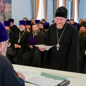 180904 024 Собрание Духовенства Семинария Омск митр. Владимир (Иким) P1199373