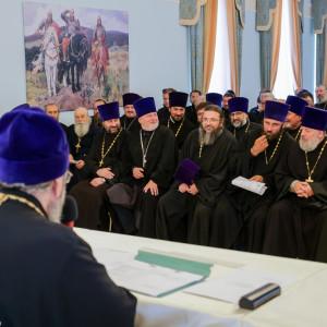 180904 025 Собрание Духовенства Семинария Омск митр. Владимир (Иким) P1199380