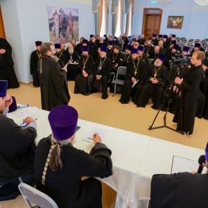 180904 027 Собрание Духовенства Семинария Омск митр. Владимир (Иким) P1199409
