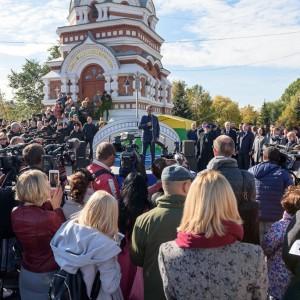 181003 248 Открытие Юбилейного моста Омск митр. Владимир (Иким) SIB_1753