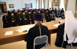 Митрополит Владимир возглавил очередное епархиальное собрание