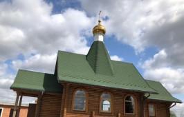 Первая Божественная Литургия в храме преподобного Сергия Радонежского села Дружино