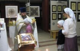 Литургия в святочные дни в ОмГТУ