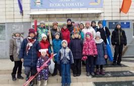 Совместный лыжный забег воскресной школы Успенского кафедрального собора, Воскресенского собора и храма Иоанна Крестителя