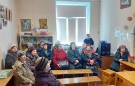 Встреча гостей в селе Новотроицком