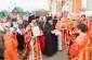 Радость праздника Воскресения Христова с Архипастырем разделили насельники и прихожане Свято-Никольского мужского монастыря