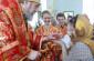 Митрополит Владимир поздравил с Пасхой Христовой прихожан храма иконы Божией Матери «Знамение»