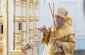 Митрополит Владимир возглавил воскресное богослужение в Успенском кафедральном соборе